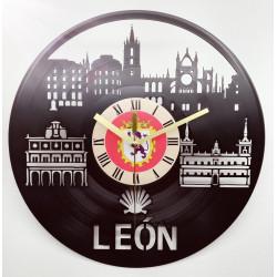 RELOJ DISCO DE VINILO DE LEÓN