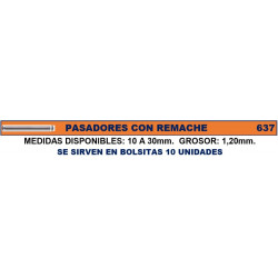 PASADORES REMACHE 1.2ø 10MM